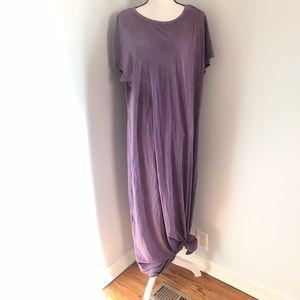 LulaRoe Maria Purple Maxi Dress 2XL Vintage Wash